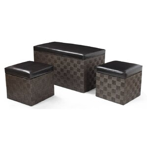 3 Piece Ottoman Set by Adeco Trading
