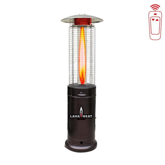 Cylindrical Commercial Flame 45,000 BTU Patio Heater With Remote