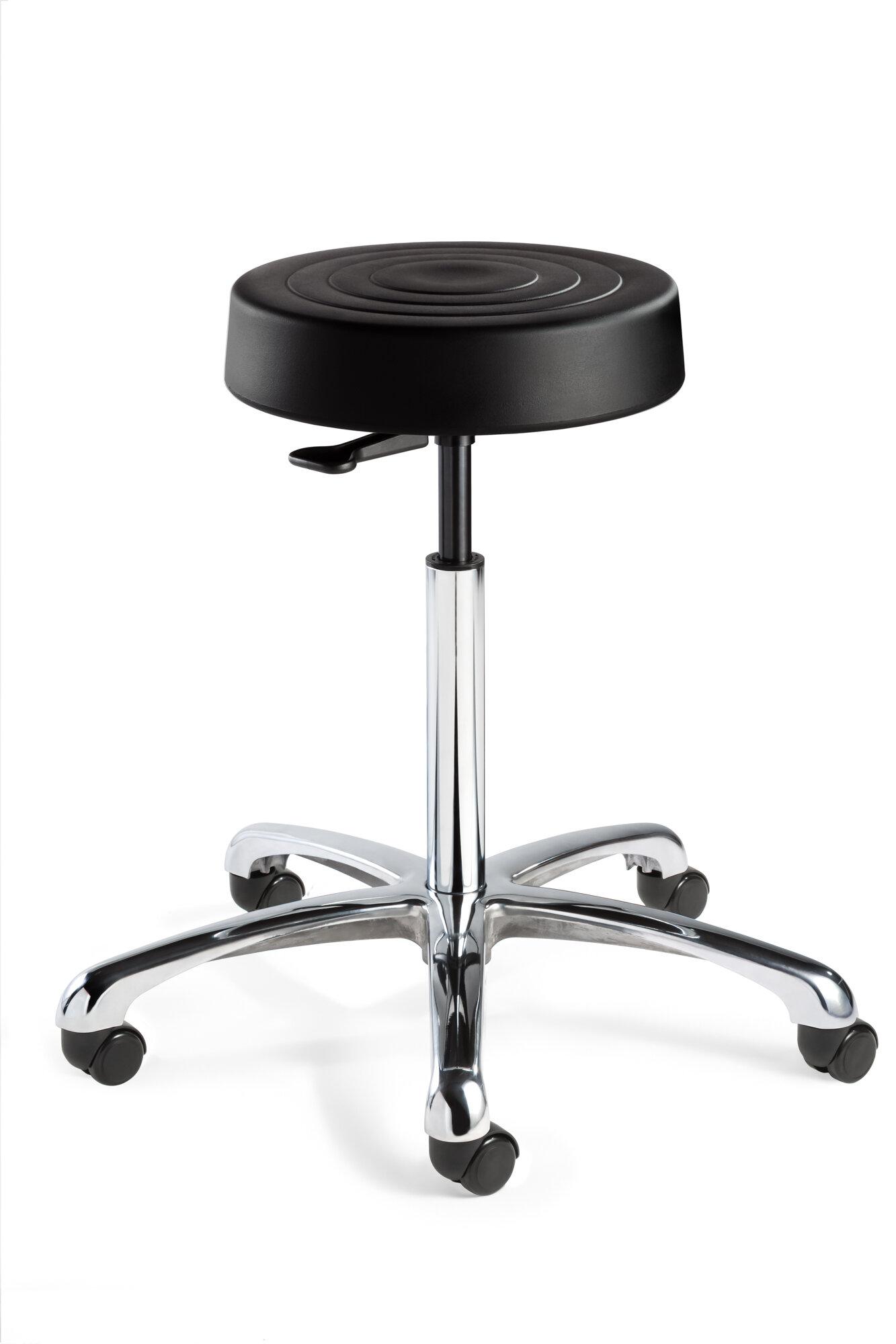 bevco ergolux height adjustable backless stool with dual wheel hard floor casters wayfair. Black Bedroom Furniture Sets. Home Design Ideas
