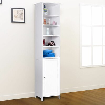 Linen cabinets towers you 39 ll love wayfair - Free standing linen cabinets for bathroom ...