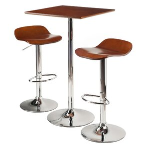 Modern contemporary 3 piece pub table set allmodern chevalier 3 piece 40 pub table set watchthetrailerfo