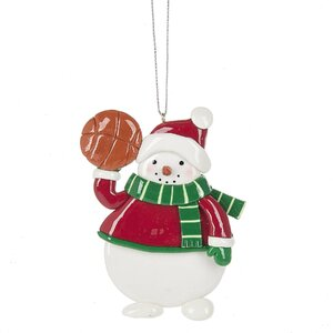 Basketball Snowman Hanging Figurine