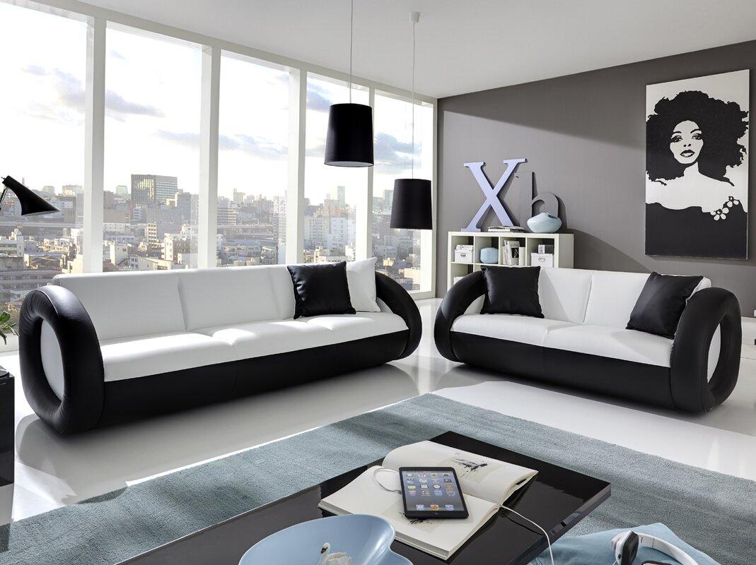 sam stil art m bel gmbh 2 tlg couchgarnitur oskar bewertungen. Black Bedroom Furniture Sets. Home Design Ideas