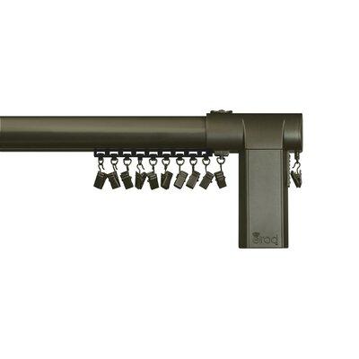 Beme International Motorized Erod Center Open Single Curtain Rod and Hardware Set Size: 80 - 144 W, Finish: Coffee