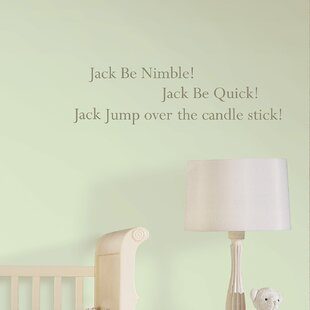 Jack Be Nimble Baby Nursery Rhyme Wall Sticker