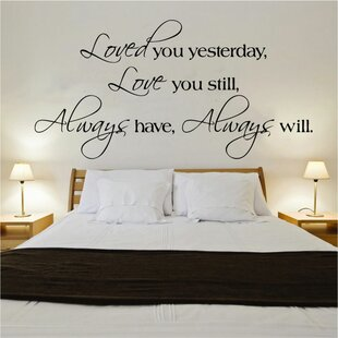 Loved You Yesterday Quote Decal Wall Sticker