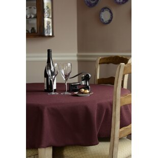 Carly Linen Like Round Tablecloth