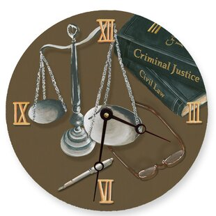 10 Scales Of Justice Wall Clock
