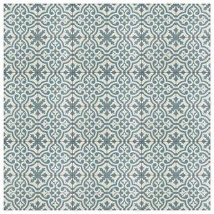 Alameda 17 63 X Ceramic Field Tile In Blue White