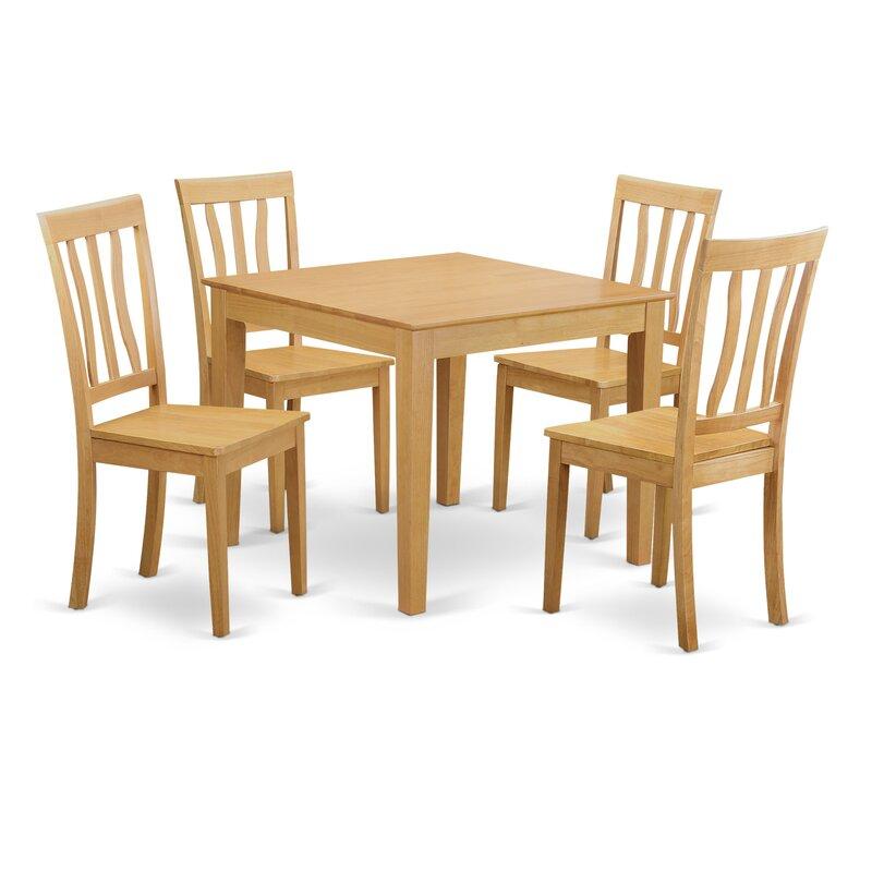 Wooden Importers Lynfield 6 Piece Dining Set: Wooden Importers Oxford 5 Piece Dining Set & Reviews