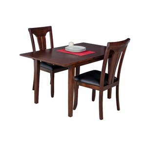 Assante 3 Piece Dining Set with Butterfly Leaf Table by Alcott Hill