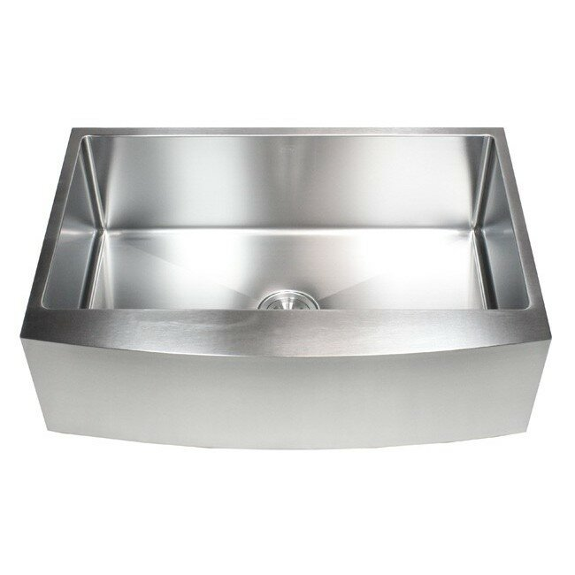 Emodern Decor Ariel 33 Quot X 21 Quot Stainless Steel Single Bowl