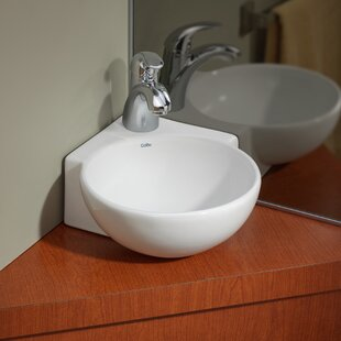 Vitreous China 12 Corner Bathroom Sink