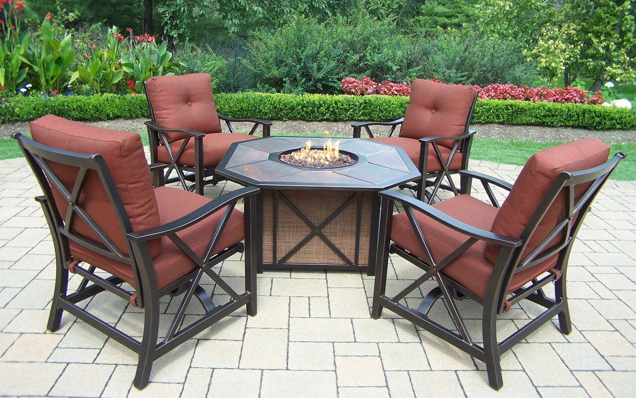 Oakland Living Haywood 5 Piece Conversation Set With