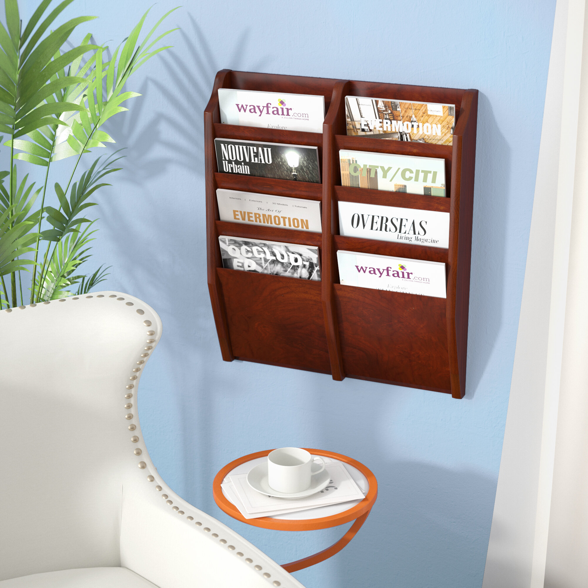 wall wayfair pocket decor rack pdp mount magazine rebrilliant ca pillows reviews