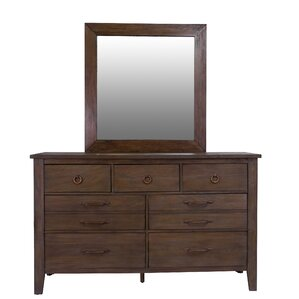 Driftwood 7 Double Dresser with Mirror by Panama Jack Home