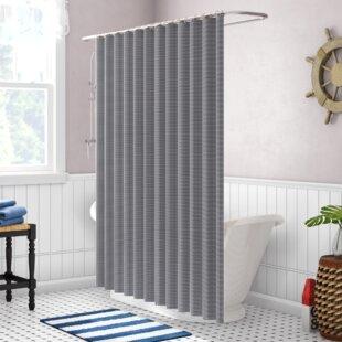 Incroyable Peach And Gray Shower Curtain | Wayfair
