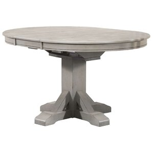 Round Pedestal Dining Table With Leaf pedestal kitchen & dining tables you'll love | wayfair