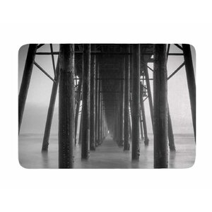 Vanishing Point by Juan Polo Memory Foam Bath Mat