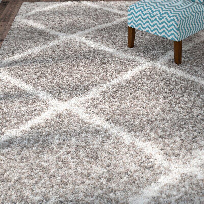 Shag Area Rugs brayden studio hampstead gray shag area rug & reviews | wayfair