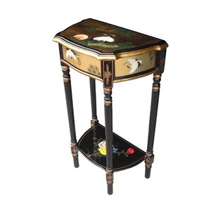 Gold Leaf Ronit Side Table With Storage