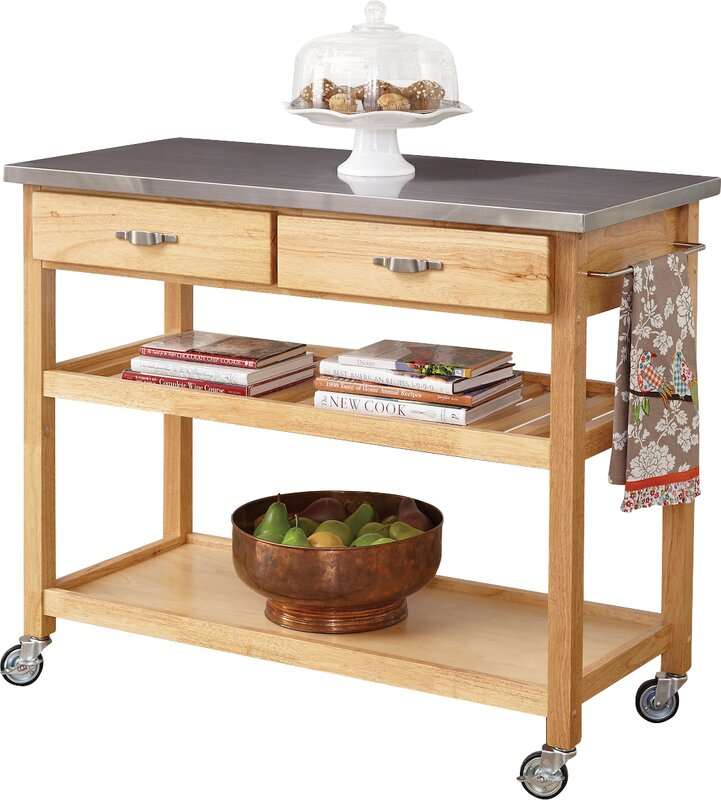 Perfect Drumtullagh Kitchen Island With Stainless Steel Top