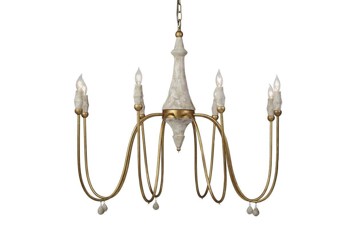 Gabby clay 8 light candle style chandelier reviews wayfair clay 8 light candle style chandelier arubaitofo Image collections