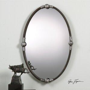 Industrial Wall Mirror industrial wall mirrors you'll love   wayfair