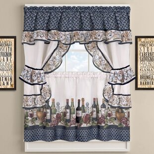 Cau Wines Cottage Kitchen Curtains