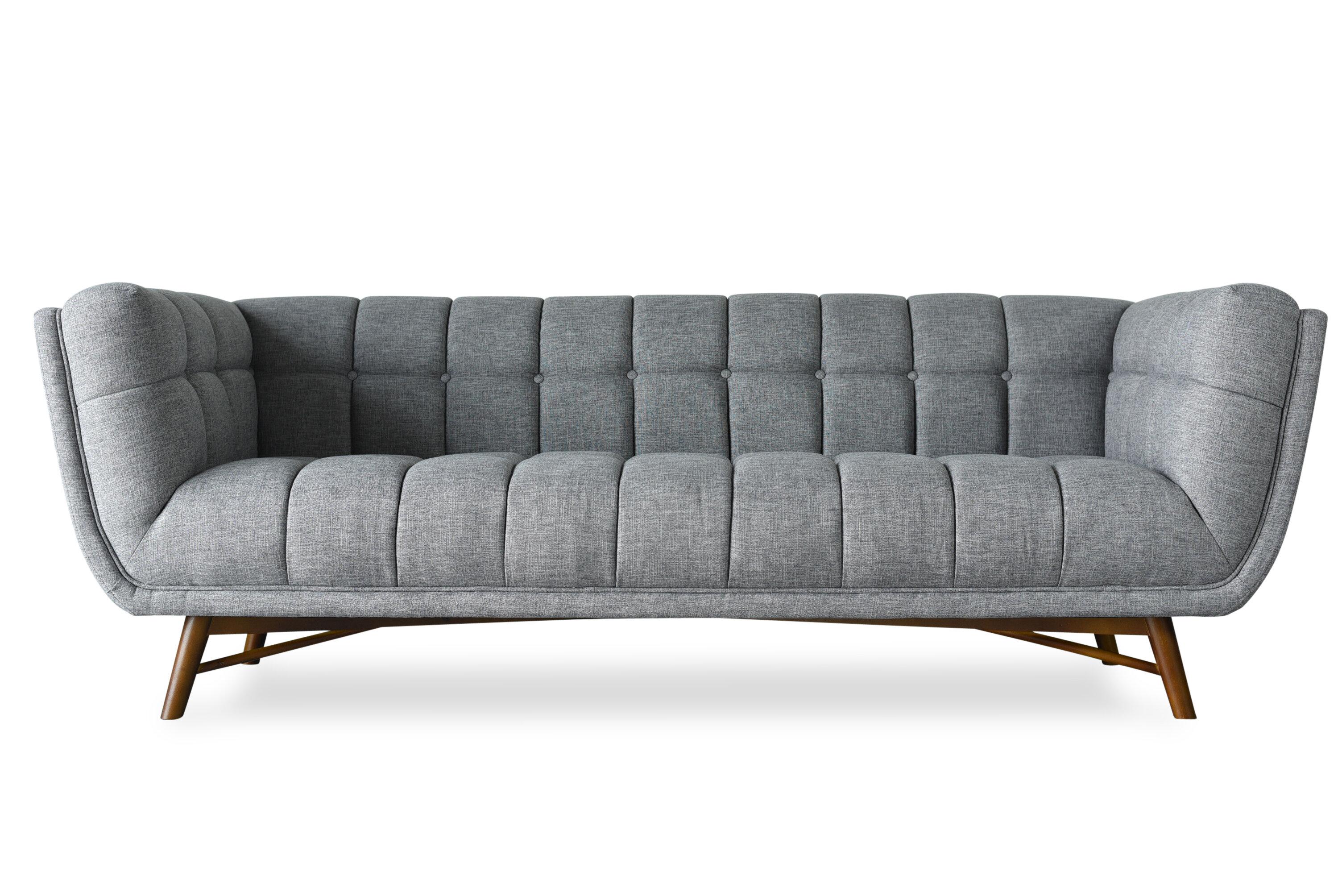 Everly Quinn Claris Mid-Century Modern Chesterfield Sofa | Wayfair