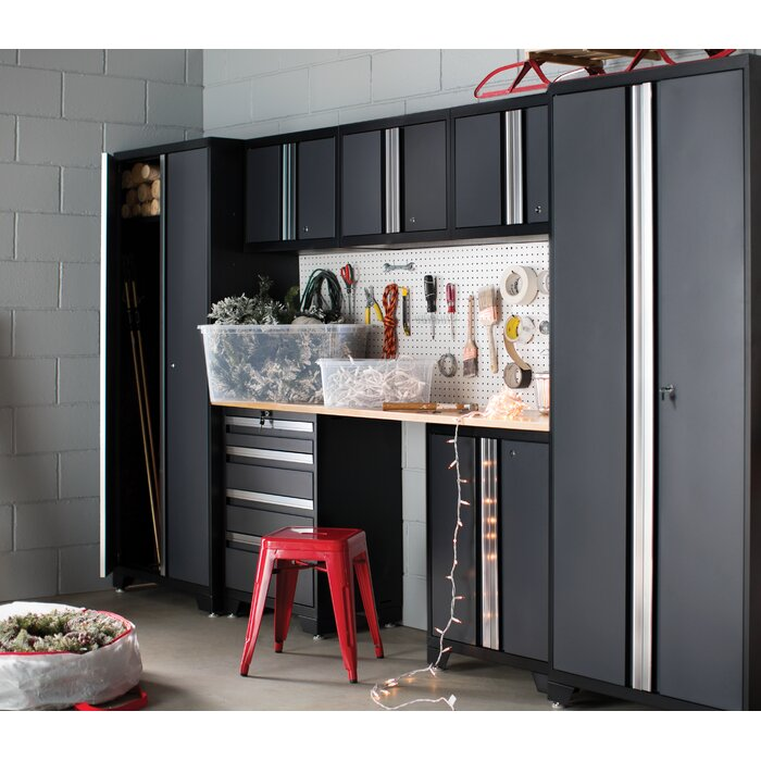 products set garage p en in grey worktop cabinets home steel pro with series newage stainless cabinet piece