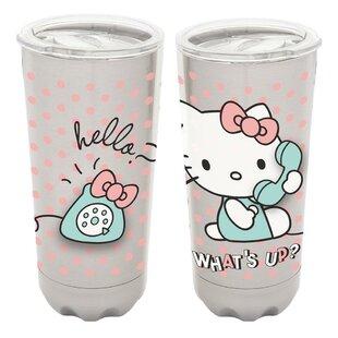 e146ad15336 Hello Kitty 20 oz Stainless Steel Travel Tumbler. by Vandor LLC