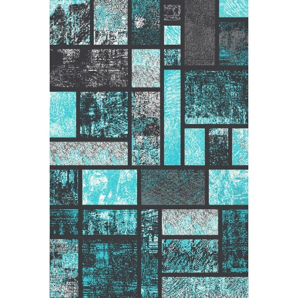 Elegant Zipcode Design Emmaline Modern Turquoise Area Rug U0026 Reviews | Wayfair