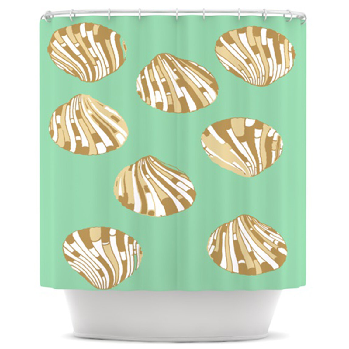 KESS InHouse Scallop Shells Shower Curtain