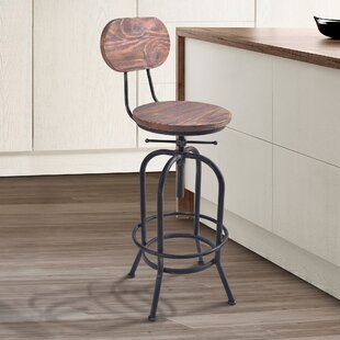 Poitras Adjustable Height Swivel Bar Stool (Set of 2)