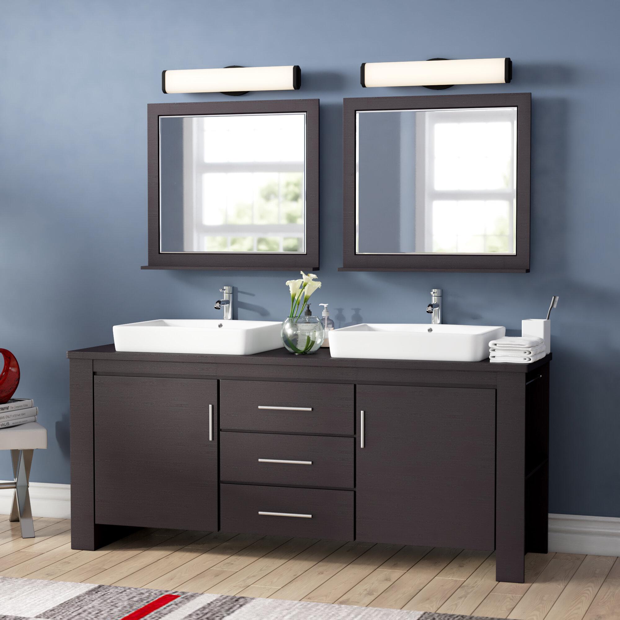 Wade Logan Blaser 72 Double Bathroom Vanity Set With Mirror