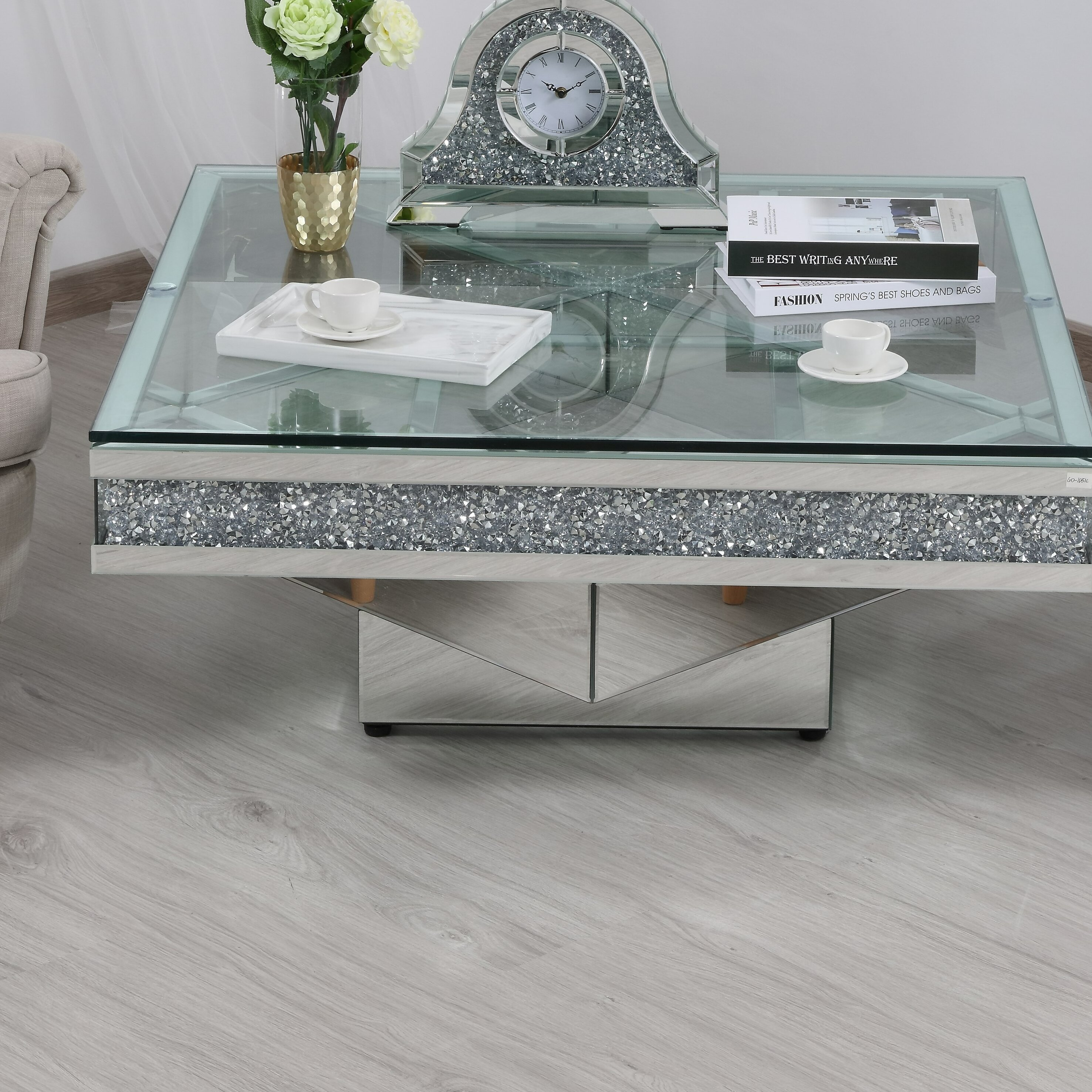 Aaryahi Mirrored Coffee Table