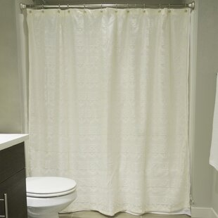 White Lace Shower Curtain | Wayfair
