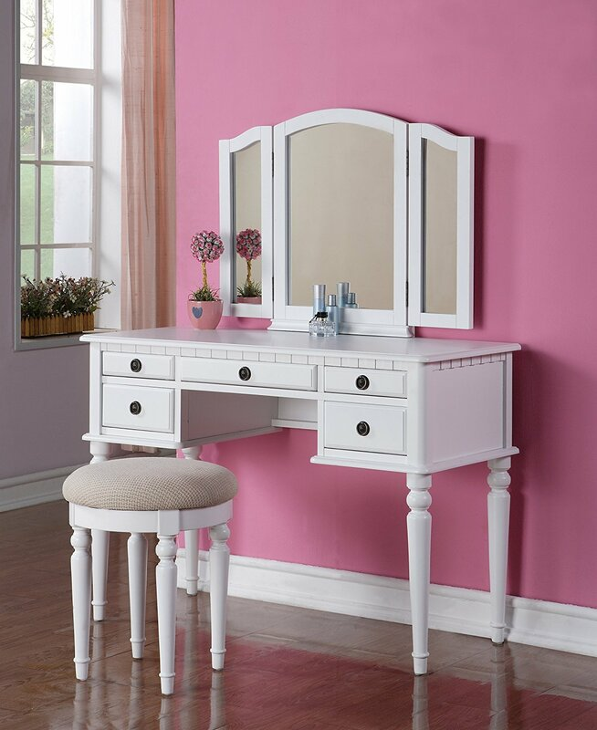 Lakemore Makeup Vanity Set with MirrorAlcott Hill Lakemore Makeup Vanity Set with Mirror   Reviews   Wayfair. Mirrored Makeup Vanity Set. Home Design Ideas