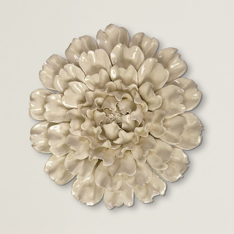 Calliope wall decor ceramic flowers