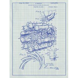 Toilet paper blueprint art wayfair airplane engine blueprint graphic art malvernweather Gallery