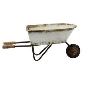Secret Garden Decorative Metal Wheelbarrow Planter