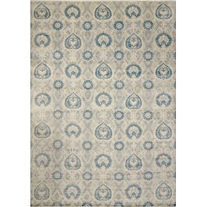 One-of-a-Kind Harkness Hand-Knotted Wool Gray/Blue Area Rug