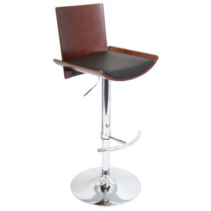 Screven Adjustable Height Swivel Bar Stool by Wade Logan