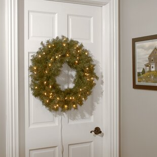 norwood lighted pine wreath - Lighted Animals Christmas Decoration