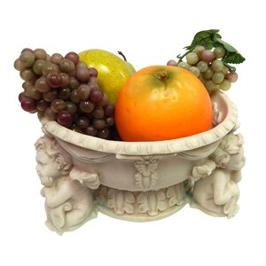 Ceramic and Resin Carved  Bowl of Plenty