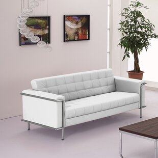 Cream Leather Sofa | Wayfair