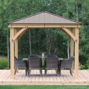 Meridian 10 Ft W X D Solid Wood Patio Gazebo