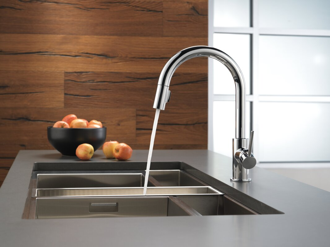 Delta Trinsic Pull Down Single Handle Kitchen Faucet with MagnaTite ...