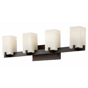 Bathroom Light Fixtures Bronze oil rubbed bronze bathroom vanity lighting | wayfair